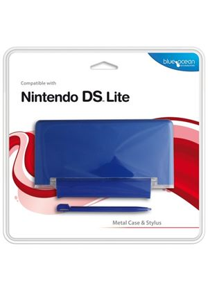 Blue Ocean Accessories - Blue Metal Case and Stylus for DS Lite (DS)