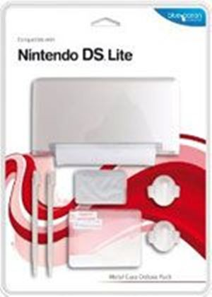 Blue Ocean Accessories - Silver Metal Case Deluxe Pack for DS Lite (DS)