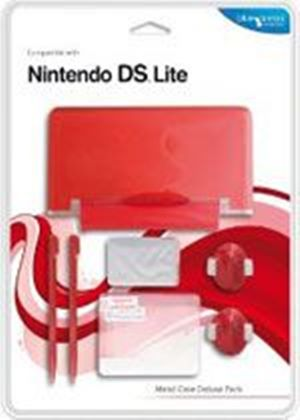 Blue Ocean Accessories - Red Metal Case Deluxe Pack for DS Lite (DS)