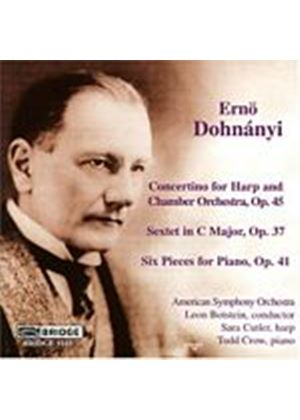 Erno Dohnanyi - Concertino For Harp And Chamb Orch. (Botstein, American SO) (Music CD)