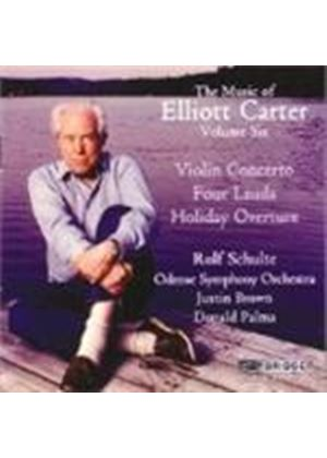 Carter: Violin Concerto; Holiday Overture