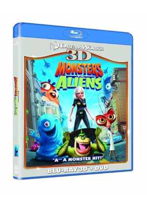Monsters Vs Aliens 3D (Blu-ray 3D, Blu ray & DVD)