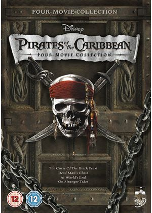 Pirates of the Caribbean - DVD Boxset (Includes Pirates 1,2,3 & 4)