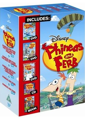 Phineas And Ferb - Fast And The Phineas / Daze Of Summer / Very Perry - Gift Set (DVD + Book + CD)
