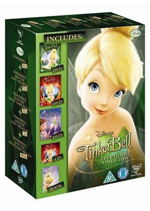 Tinker Bell 1-3 Collection - Gift Set (DVD + Book + CD)
