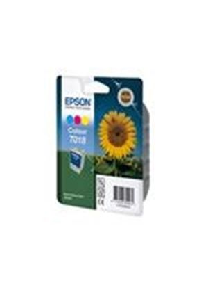 Epson T018 - Print cartridge - 1 x color (cyan, magenta, yellow) - 300 pages