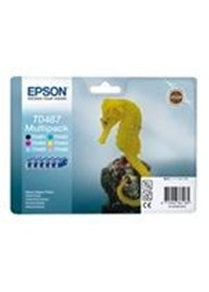 Epson Multipack T0487 - Print cartridge - 1 x black, yellow, cyan, magenta, light magenta, light cyan