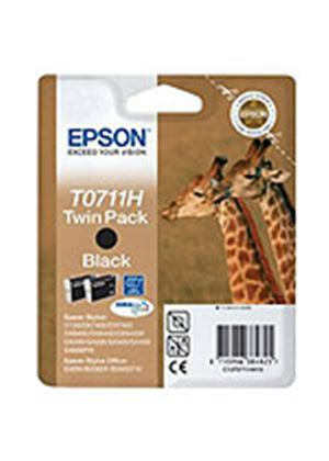 Epson T0711 Twin Pack - Print cartridge - High Capacity - 2 x black