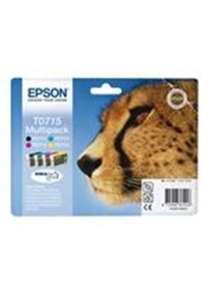 Epson Multipack T0715 - Print cartridge - 1 x black, yellow, cyan, magenta