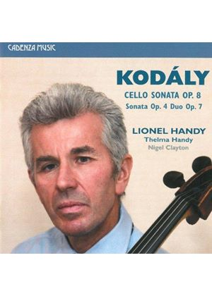Kodály: Cello Sonata Op. 8; Sonata Op. 4; Duo Op. 7 (Music CD)