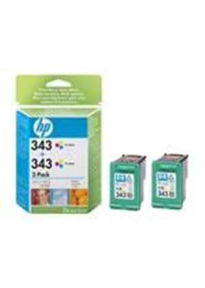 HP 343 - Print cartridge - 2 x color (cyan, magenta, yellow) - 260 pages