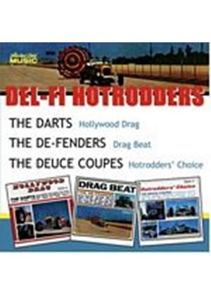 The Darts/The De-Fenders/Deuce Coupes - Hollywood Drag/Drag Beat/Hotrodders Choice (Music CD)