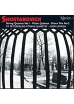 Shostakovich: String Quartet No 1; Piano Trio No 2; Piano Quintet