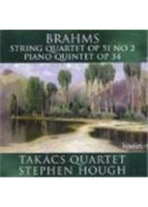 Johannes Brahms - String Quartet, Piano Quartet (Hough, Takacs Quartet) (Music CD)