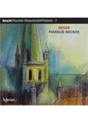 Reger:  Piano Transcriptions of Bach (Music CD)