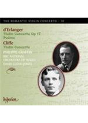 Cliffe; d\'Erlanger: Romantic Violin Concertos, Vol 10 (Music CD)