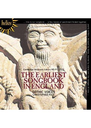 Earliest Songbook in England (Music CD)