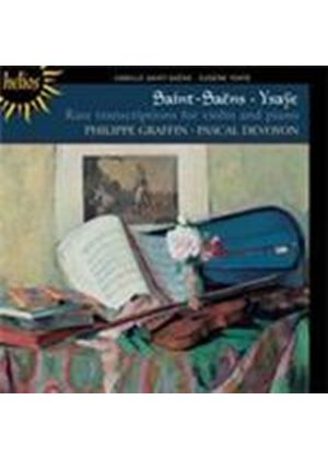 Saint-Saëns; Ysa e: Transcriptions for Violin and Piano (Music CD)