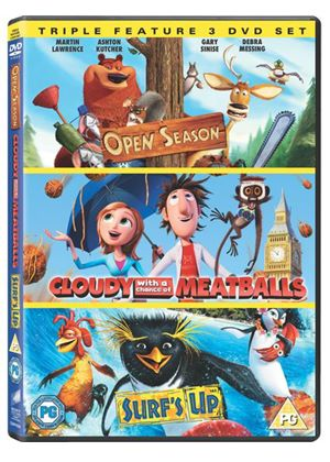 Cloudy With a Chance of Meatballs/Open Season/Surf's Up