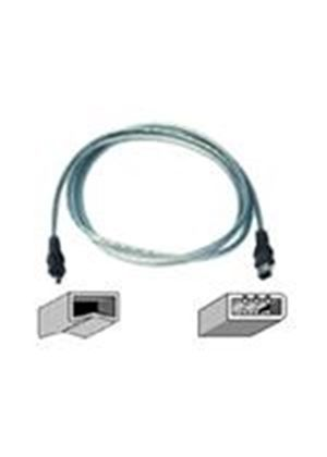 Belkin IEEE 1394 FireWire Compatible Cable - IEEE 1394 cable - 6 pin FireWire (M) - 4 pin FireWire (M) - 4.3 m