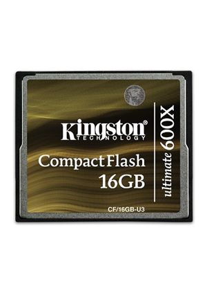 Kingston CompactFlash Ultimate 16GB Memory Card 600X with Recovery Software