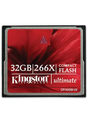 Kingston 32GB CompactFlash Card Ultimate 266x with Recovery Software