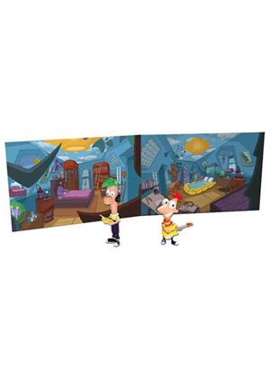 Phineas and Ferb Action Figure Scene Packs - Bedroom