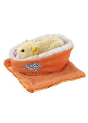 Zhu Zhu Pets Hamsters Accessory Pack - Orange Bed and Blanket (Go Go Pets)