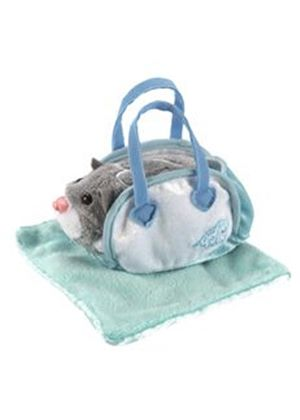 Zhu Zhu Pets Hamsters Accessory Pack - Aqua Carrier and Blanket (Go Go Pets)