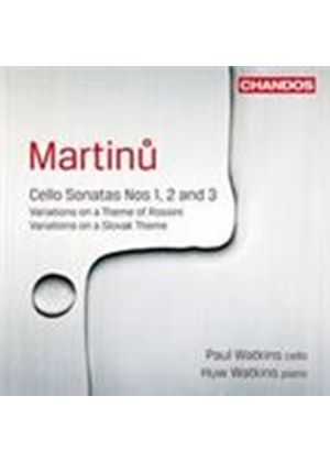 Martinu: Cello Sonatas Nos 1, 2 & 3 (Music CD)