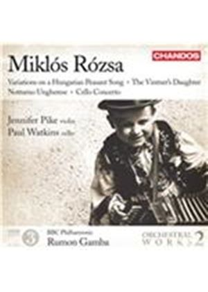 Mikl�s R�zsa: Variations on a Hungarian Peasant Song; The Vintner's Daughter; Notturno Ungharese; Ce (Music CD)