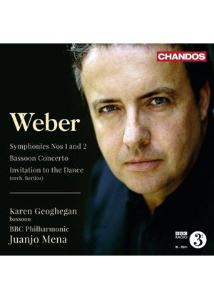 Weber: Symphonies Nos. 1 & 2;  Bassoon Concerto; Invitation to the Dance (Music CD)