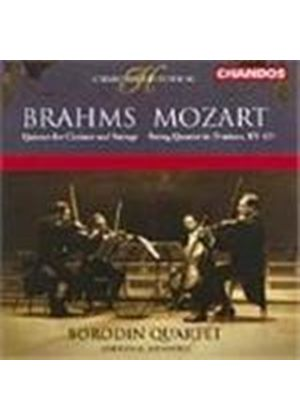 Brahms: Quintet for Clarinet and Strings; Mozart: String Quartet No 15