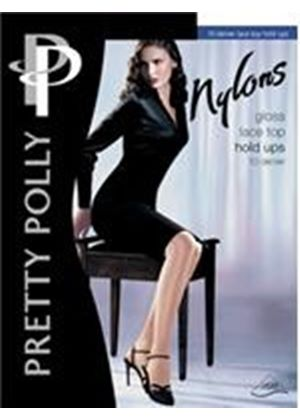 Holdups Pretty Polly Nylons Gloss Lace Top Holdups