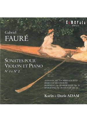 Fauré: Sonatas for Violin and Piano