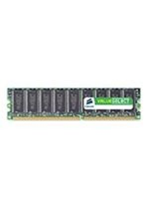 Corsair Value Select - Memory - 1 GB - DIMM 184-pin - DDR - 400 MHz / PC3200 - CL3 - unbuffered - non-ECC
