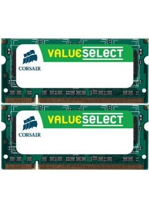 Corsair Value Select - Memory - 4 GB ( 2 x 2 GB ) - SO DIMM 200-pin - DDR2 - 667 MHz / PC2-5300 - CL5 - unbuffered - non-ECC
