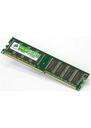 Corsair Value Select - Memory - 512 MB - DIMM 184-pin - DDR - 333 MHz / PC2700 - CL2.5 - unbuffered - non-ECC