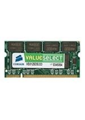 Corsair Value Select - Memory - 512 MB - SO DIMM 200-pin - DDR - 400 MHz / PC3200