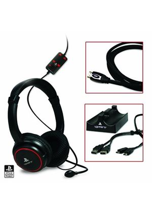 Officially Licensed 4Gamers Premium Gaming Headset KIT (PS3)
