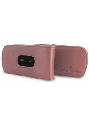 Official Sony Leather Flip Case - Pink (PSP GO)