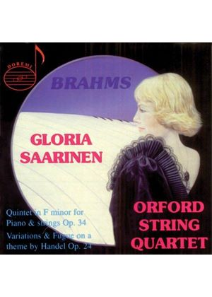 GLORIA SAARINEN - BRAHMS QUINTET FOR PIANO & STRINGS