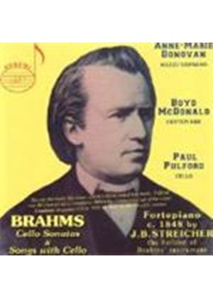 Brahms - CELLO SONATAS WITH SONGS WITH CELLO