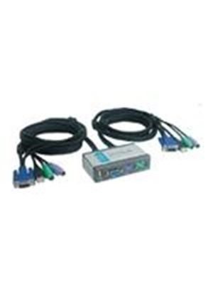 D-Link DKVM 2KU - KVM / USB switch - PS/2 - 2 ports - 1 local user