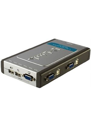 D-Link DKVM 4U - KVM switch - USB - 4 ports - 1 local user