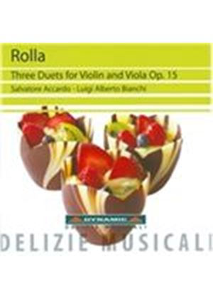Rolla: Three Duets for Violin and Viola, Op. 15 (Music CD)