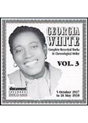 Georgia White - Complete Recorded Works In Chronological Order - Volume 3 (Music CD)