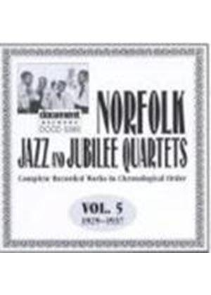 Norfolk Jazz & Jubilee Quartet - Norfolk Jazz And Jubilee Quartets Vol.5 1929-1937