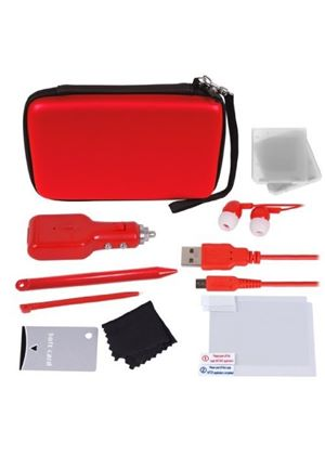Crown 12-in-1 Deluxe Accessory Kit - Red ( Nintendo 3DS XL)