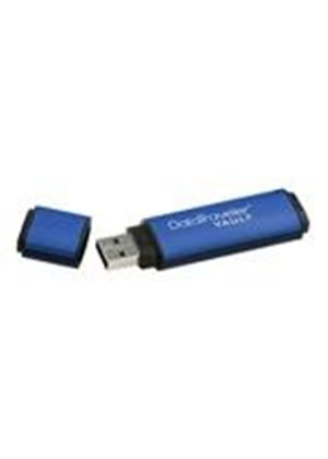Kingston DataTraveler Vault - Privacy Edition - USB flash drive - 32 GB - Hi-Speed USB - blue